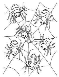 spin kleurplaat peuters zoeken herfst