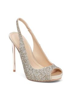 "Imagine VINCE CAMUTO Pavi Slingback Platform Peep Toe Pumps | Bloomingdale's 4.7"" heel, 0.8"" platform, feels like 3.9"" heel"