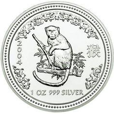 2004 series 1 - Australian Silver Lunar Monkey Bullion Coin