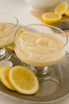 Vegan Lemon Pudding