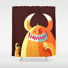 Grin thing monster moment Shower Curtain by simon oxley idokungfoo.com - $68.00
