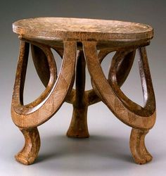 Africa | Prestige stool from the Kwere people of Bagamoyo area, Tanzania | Made from a single piece of wood | ca. early to mid 20th century