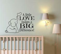 Vivero Decor - Decoración de cuarto de niños elefante - elefante de la pared…