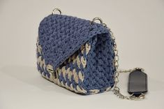 Handmade Small Shoulder Bag With Metal And Faux Leather Details, Small Crochet Blue Beige Shoulder Clutch, Minimalist Small Purse Human Trafficking, Knit Or Crochet, Small Shoulder Bag, Line Design, One Pic, Minimalist, Beige, Purses, Trending Outfits