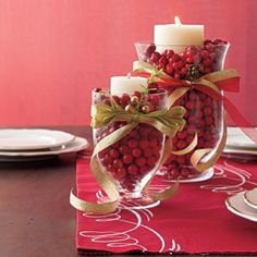 Holiday SIP 2014 Cranberry Candles | 14 Festive Thanksgiving Centerpieces | AllYou.com Mobile