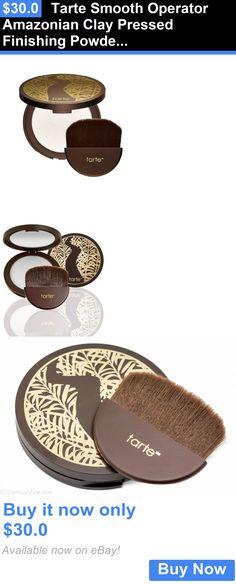 Face Powder: Tarte Smooth Operator Amazonian Clay Pressed Finishing Powder - Nib BUY IT NOW ONLY: $30.0