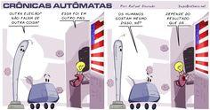 Sapo Brothers, crônicas autômatas, robôs, diversão, tiras, humor, games, jogos, animação, anima, quadrinhos, infantil, minja, jones