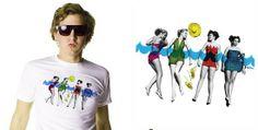 Tee shirt Design Blog: Pretty Retro-Thing, Pop Art Tee Shirt from The Ryde | Cottonable