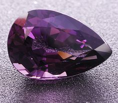 Extremely rare  gemstone, member of the taaffeite family - Musgravite eye clean pear weighing 3.69 cts, from Tanzania.