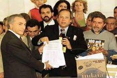 Temer arquivou quatro pedidos de impeachment contra FHC quando presidente da Câmara  Dirceu e Lula entregam pedido de impeachment a Michel Temer