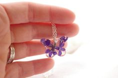 Butterfly Pendant Necklace Sterling Silver por PassionOfLight