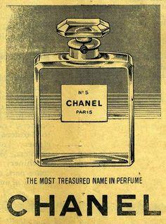 Vintage Poster - Chanel No. 5 - Paris - Perfume - Luxury