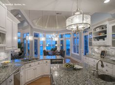 A second sink in the island is ideal when you have two cooks in the kitchen! http://www.dongardner.com/plan_details.aspx?pid=4229. #Second #Sink #Kitchen