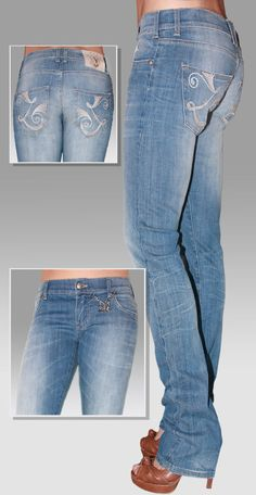 Pantalone 5 tasche Skinny donna Made In Italy Jeans Stretch Indaco stretto TG 27