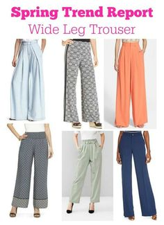 Today's Spring Trend Report is Wide Leg Trousers. What do you think about them, Yay or Nay?? ‪#‎springtrends‬ ‪#‎springfashion‬ ‪#‎widelegtrouser‬ ‪#‎fashionforwomenover40‬