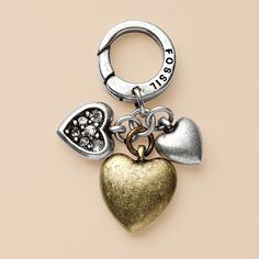 Cluster Hearts Charm ~ Fossil...