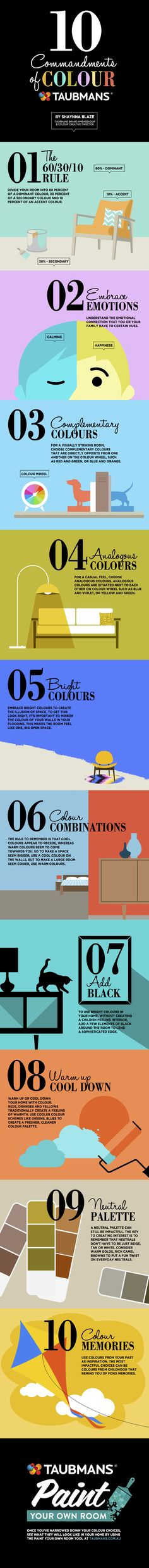 Taubmans 10 Commandments of Colour Infographic