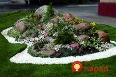 Chcete v záhrade skalku? 35 prekrásnych nápadov, ktoré určite oceníte! Front Yard Garden Design, Front Garden Landscape, Rock Garden Design, Lawn And Landscape, Front Yard Landscaping, Home Vegetable Garden Design, Garden Art, Rockery Garden, Garden Picnic