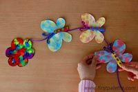 Filter Paper Butterfly Mobile