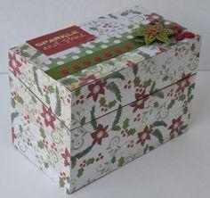 Christmas Treasure Photo Box Holiday Journal Memory by MaceSpace