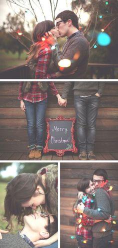 Descubre en imágenes cómo Kaylee y Bob quieren recordar sus primeras navidades como casados.. Inspiración e ideas para los fotografías y videos de la novia y el novio, previas y durante las bodas y enlaces.