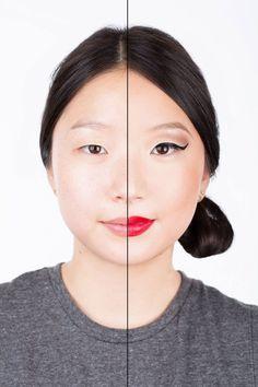 12 femmes avec et sans maquillage: les photos incroyables de leurs métamorphoses - Cosmopolitan.fr