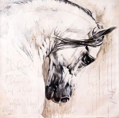 Toiles passées - past paintings — Elise Genest Painted Horses, Horse Drawings, Art Drawings, Abstract Horse Painting, Native American Horses, Oil Pastel Colours, Horse Illustration, Horse Artwork, Painted Pony