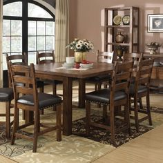 Chambers Creek Wood Gathering Table in Brown by Emerald Home