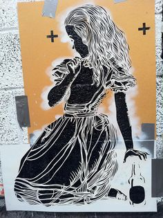 Alice : raw stencil by CANVAZ, via Flickr