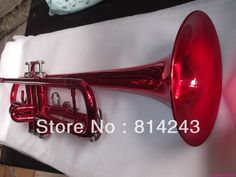 (128.25$)  Buy here - http://aizws.worlditems.win/all/product.php?id=950675863 - Custom Bb Trumpet YTR-1335 Small Brass Instrument Surface Big Red Bb Trumpet Professional Musical Instrument Bb Trompeta