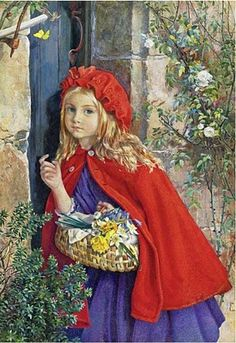 Isabel Oakley Naftel - Little Red Riding Hood, 1862