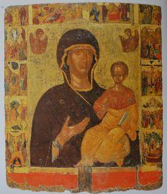 Пресвята Богородиця з Ісусом немовлям на руках. Візантійська ікона