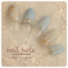 pastel blue with jewels