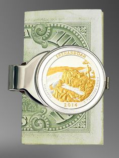 America The Beautiful Shenandoah Steel Money Clip C307-IUS2