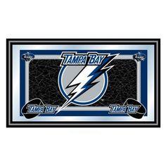 Trademark Global NHL Tampa Bay Lightning Framed Team Logo Mirror - NHL1525-TBL