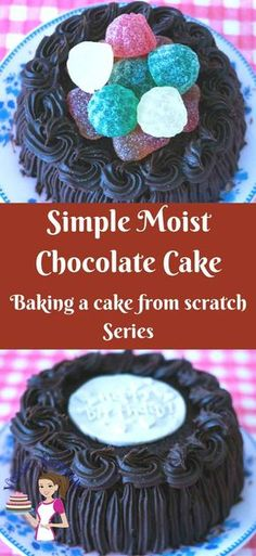 Simple moist chocolate cake is the simplest, easiest and quickest chocolate cake you can make.All you need is two bowls and a whisk. Deliciously light and airy this cake is can be served with whipped cream for a light dessert orwith chocolate frosting for a more indulgent affair.