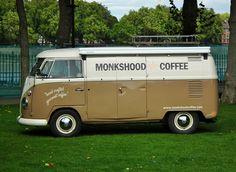 Monkshood Coffee Van - 1967 Volkswagen Transporter Van. I love this.