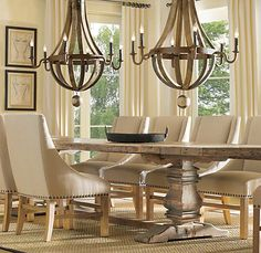 Less expensive alternatives compared to the pricey and gorgeous wine wine barrel chandeliers unfinished wood table linen chairs love the informality and aloadofball Gallery