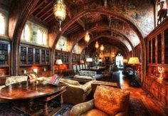 The Gothic Study – The Private Library of William Randolph Hearst, USA.  Of course he would have one of the best personal libraries. Awesome.