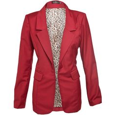 Club L Fitted Blazer ($48) ❤ liked on Polyvore