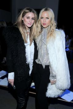 Olivia Palermo and designer Rachel Zoe attend the Altuzarra Fall 2016 fashion show during New York Fashion Week at Spring Studios on February 13, 2016 in New York City.