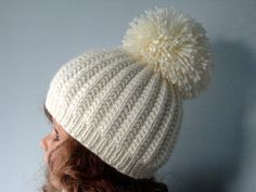 Knitting PATTERN Girls Beanie Women Hat Accessories by Solnishko43