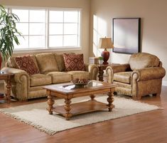 Broyhill Furniture Cambridge Collection Featuring Casual Style Sofa Sleeper Lovseat