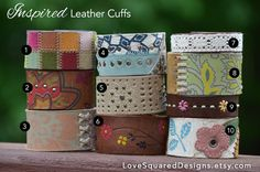 Upcycled+Leather+cuff+Inspired+leather+cuff+by+LoveSquaredDesigns,+$15.00