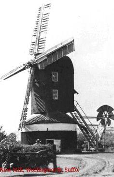 Post mill, Worlingworth, Suffolk c 1930s. No longer standing.