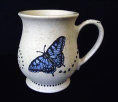 Mug - Coffee Cup - Butterfly - Unique Mug - Latte Cup. $17.95, via Etsy.