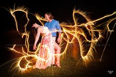 © Candace Wilson Photography  #Couple #sparklers #Fourth of July #July 4th
