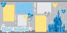 SVG files Magic Kingdom Disney World scrapbook kit cut
