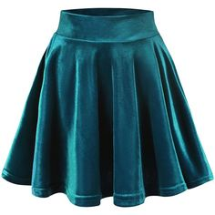 Urban CoCo Women's Vintage Velvet Stretchy Mini Flared Skater Skirt ($9.86) ❤ liked on Polyvore featuring skirts, mini skirts, flared skirt, vintage circle skirt, skater skirt, flared skater skirt and vintage skirts