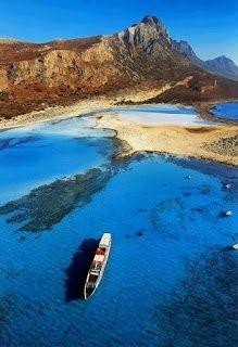 Balos lagunen i närheten av Kissamos, Chania